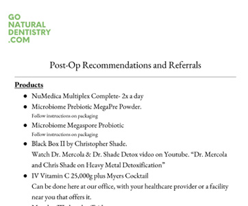 Patient Information Fort Lauderdale - Post-op Recommendation and Referrals