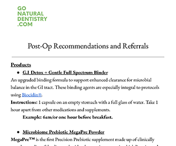 Patient Information Fort Lauderdale - Post-Op Recommendations and Referrals