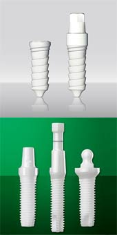 Zirconia has great strength and is a very hard material.